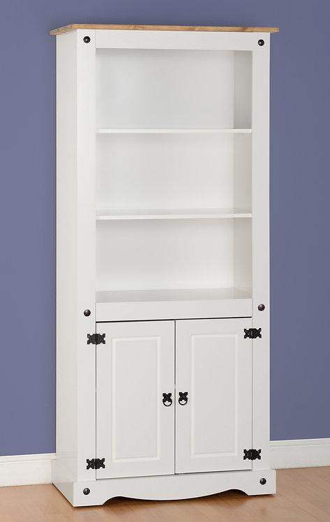 Corona White Bookcase 2 Door Display
