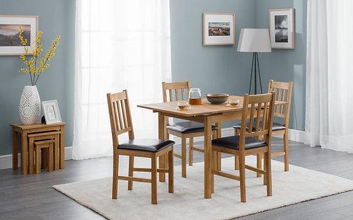 Oak extending rectangular dining table
