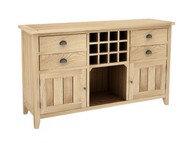 BoF Furniture - Wine Rack Buffet 4 Drawers 2 Bottom Doors