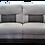 Thumbnail: Grey fabric 2 Seater Recliner Sofa