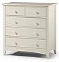 white five drawer chest