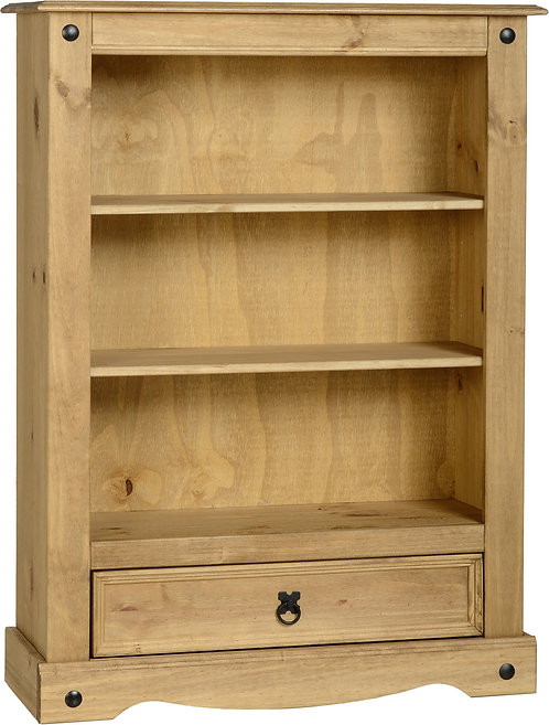 Corona 2 Shelf 1 Drawer Bookcase