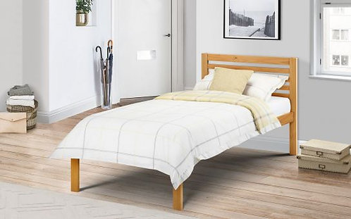 Single (3') Pine Bed with Bonnell Sprung Mattress Set