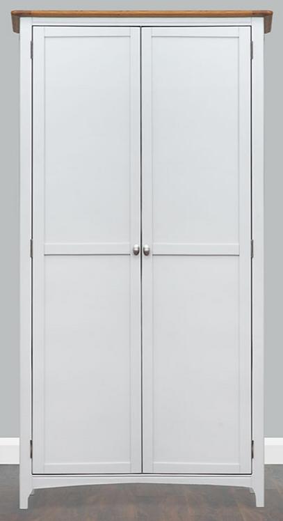 Lagan Grey + Oak Wardrobe Double