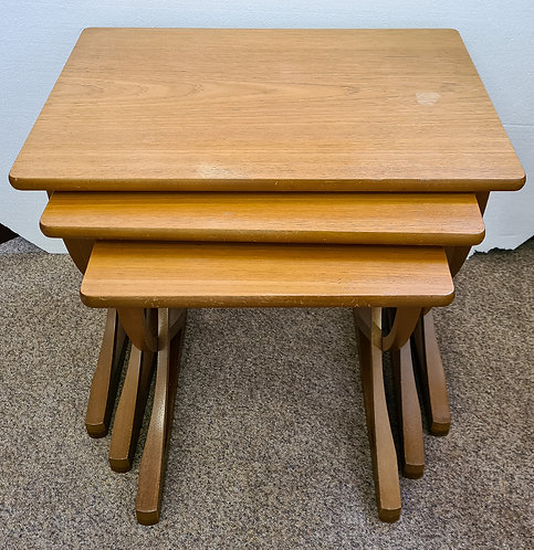 Vintage Nathan Teak nest 3 tables