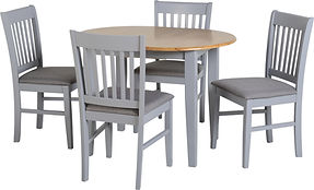 grey table with chairs