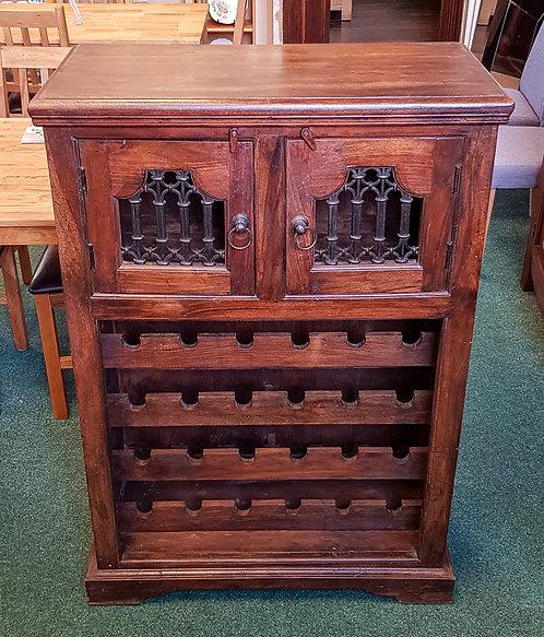 Indian Rosewood Wine Rack Cabinet