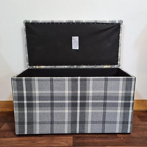Large Tartan Storage Box
