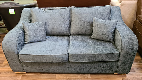 Sofabed - Charcoal Grey Chenille Fabric with 2 scatter cushions