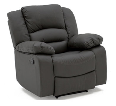 Barletto Grey Leather Recliner Chair