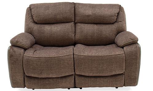 Santiago 2 Seater Recliner Brown Sofa