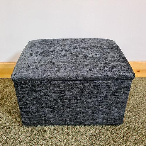 Grey Chenille Fabric Small Storage Box