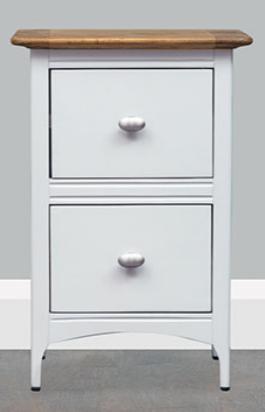 Lagan Grey + Oak Bedside Cabinet