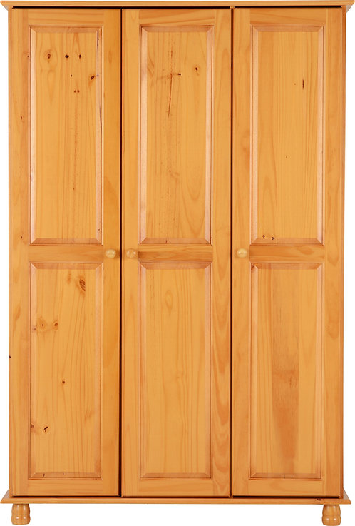 Sol Pine Triple Wardrobe