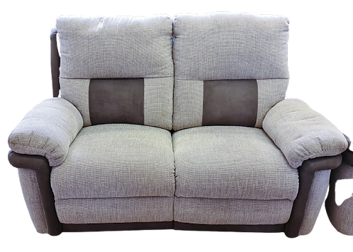 Grey fabric 2 Seater Recliner Sofa
