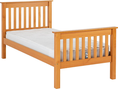 Single ( 3')  Pine High Foot End Bed