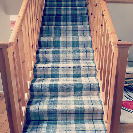 Lovely staircase & home office flooring we recently completed.