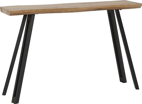 Oak Top Wave Edge Console Table