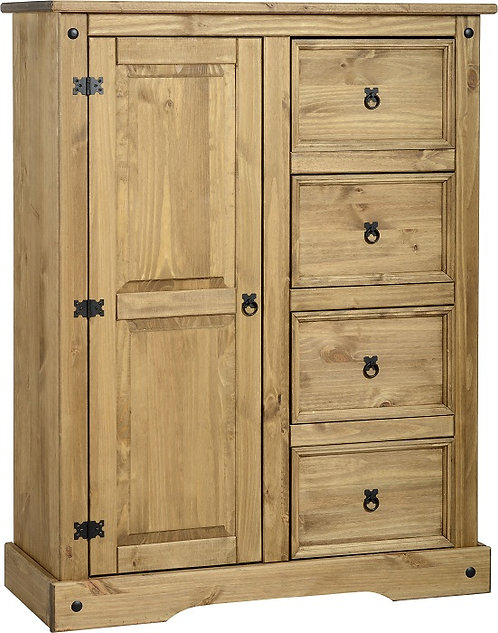 Corona 4 Drawer Wardrobe