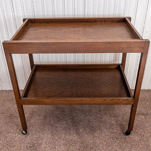 Vintage Oak Tea Trolley with removable top tray