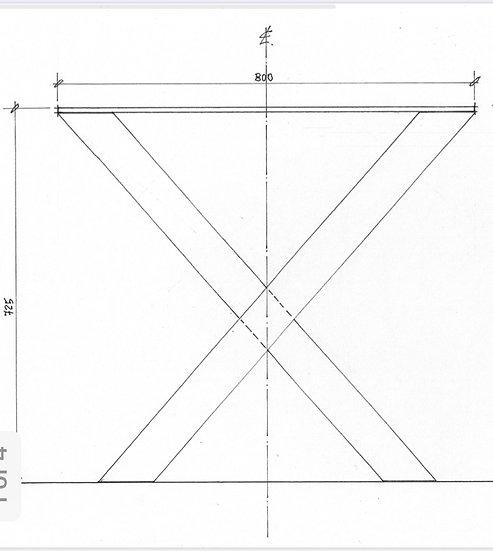 X Leg for Tables (pair)