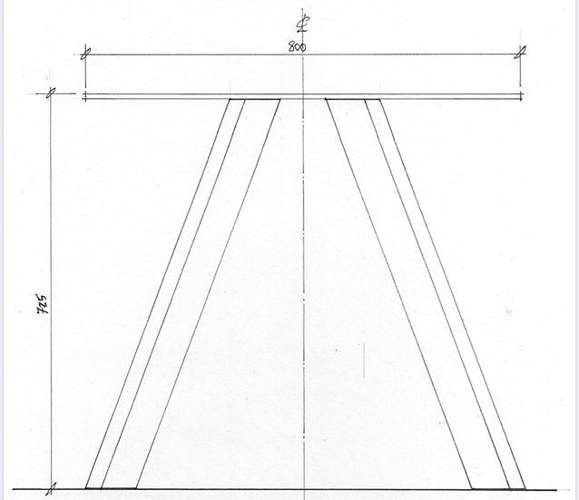 V Leg for Tables (pair)