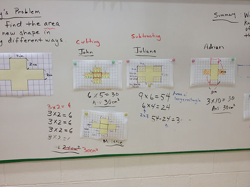 comparing and contrasting solution methods area rectangle