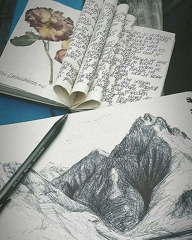 Inspired by the view. Beautiful sketches