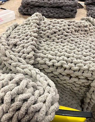 Arm Knitting Blanket/Throw 3