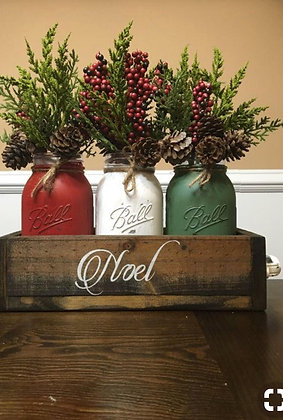 December 11th - Rustic Look Holiday Centerpiece