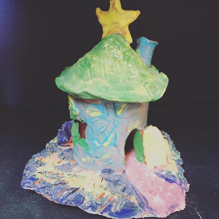 Fairy Houses & Gnome Hut Clay Sculptures - Adults