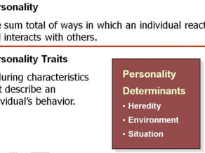 A. What is Personality? - Motivation Theory