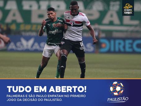 PRIMEIRO JOGO DA FINAL DO PAULISTÃO FICA NO EMPATE