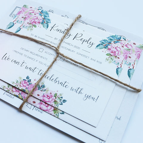 Sara Jeffery Design Wedding invites