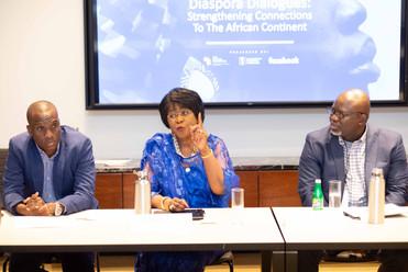 H.E. Dr. Arikana Chihombori-Quao, African Union Mission to the USA; Paul Nwulu, The Ford Foundation