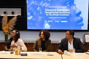 Dayo Olopade, YouTube; Maaza Mengiste, author; Claude Grunitzky, TRUE Africa