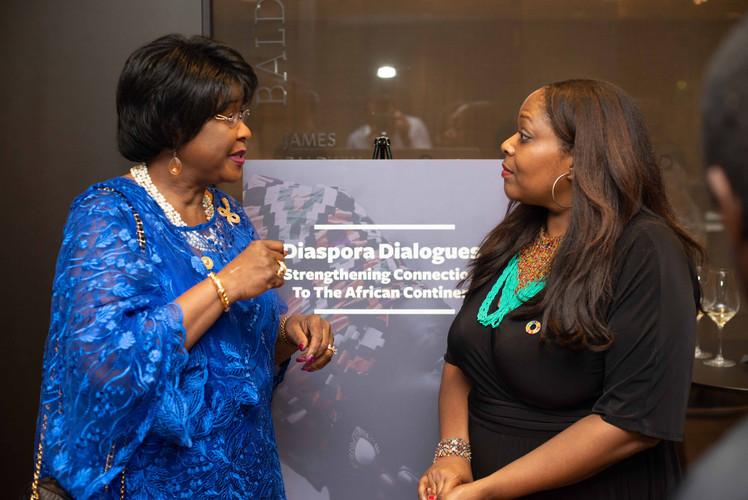 H.E. Dr. Arikana Chihombori-Quao, African Union Mission to the US; Claudine Moore, C.Moore Media