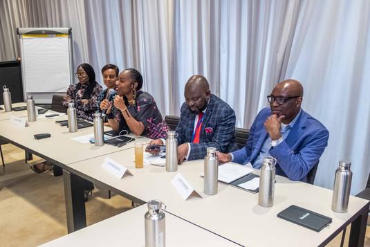 Naledi Khabo, Africa Travel Association; Semhar Araia, Facebook; Ebele Okobi, Facebook; Mudunwazi Baloyi, Brand South Africa; Evaristus Mainsah, IBM