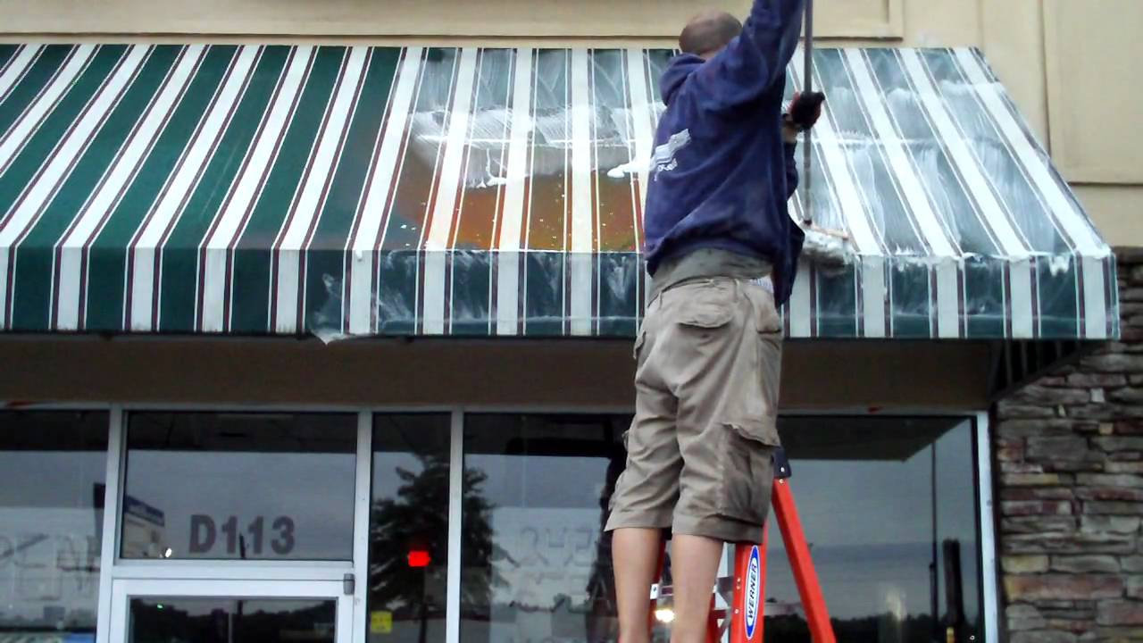 Commercial and Residential awning clean