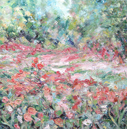 Pinks in the Meadowland 24x24