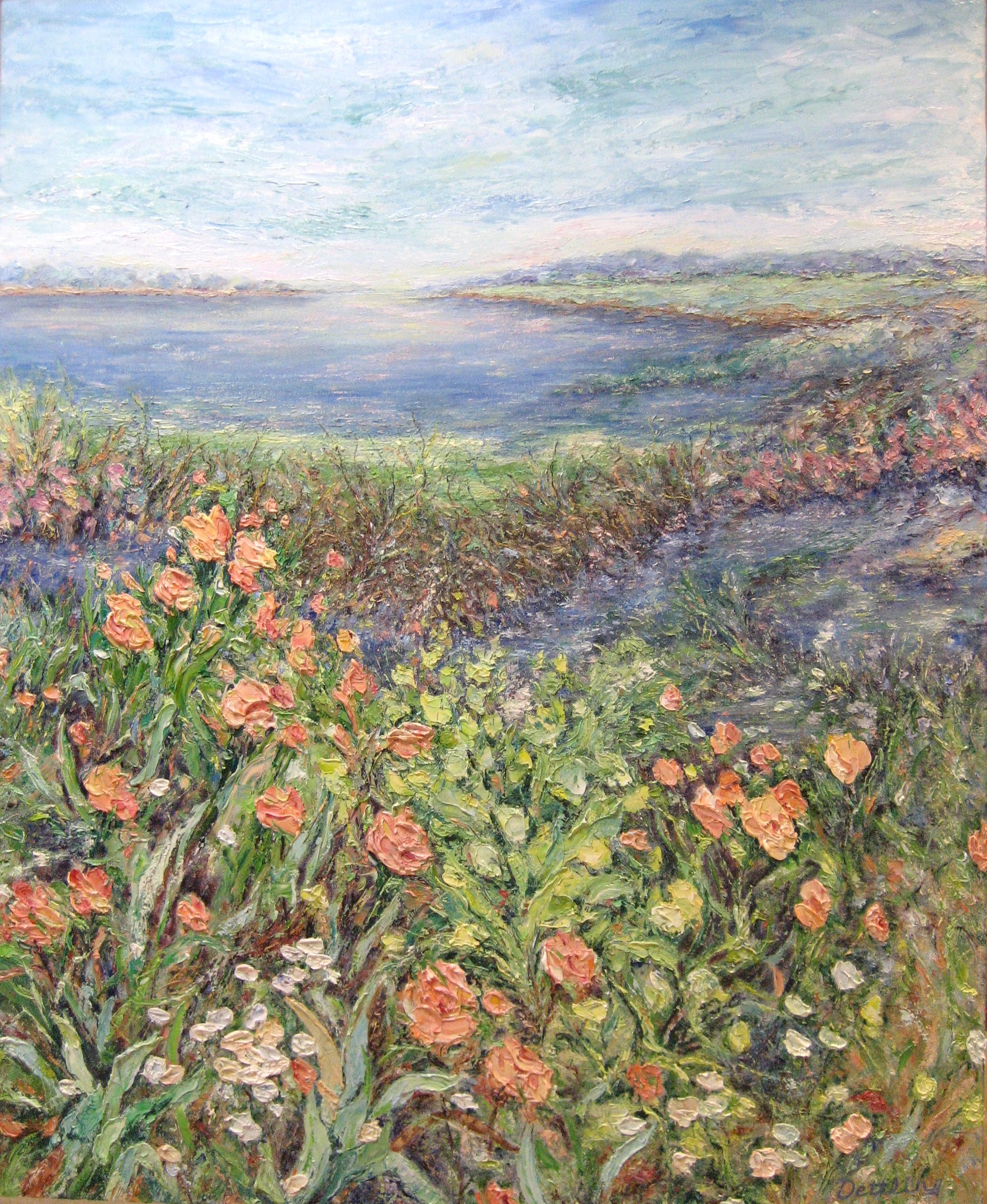 Wetlands in Bloom II 44x36