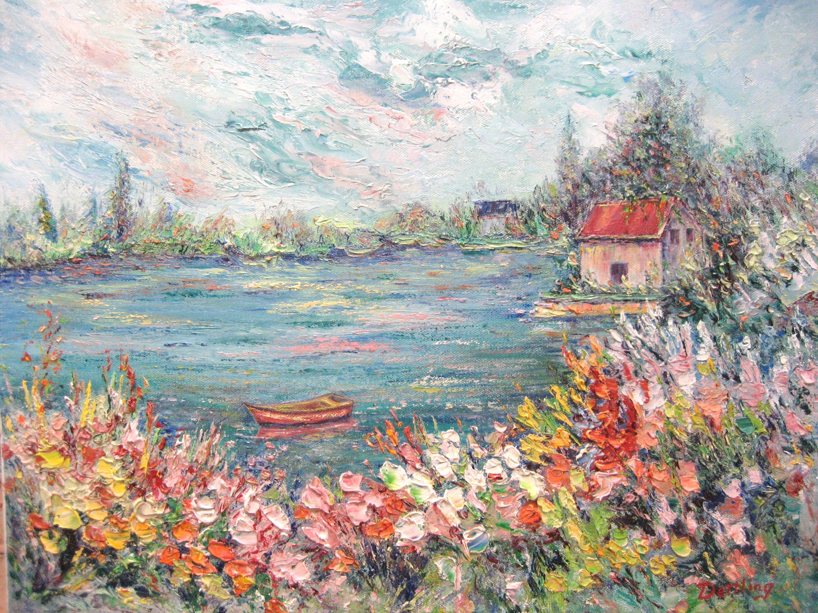 Blooms and Boats 16x20