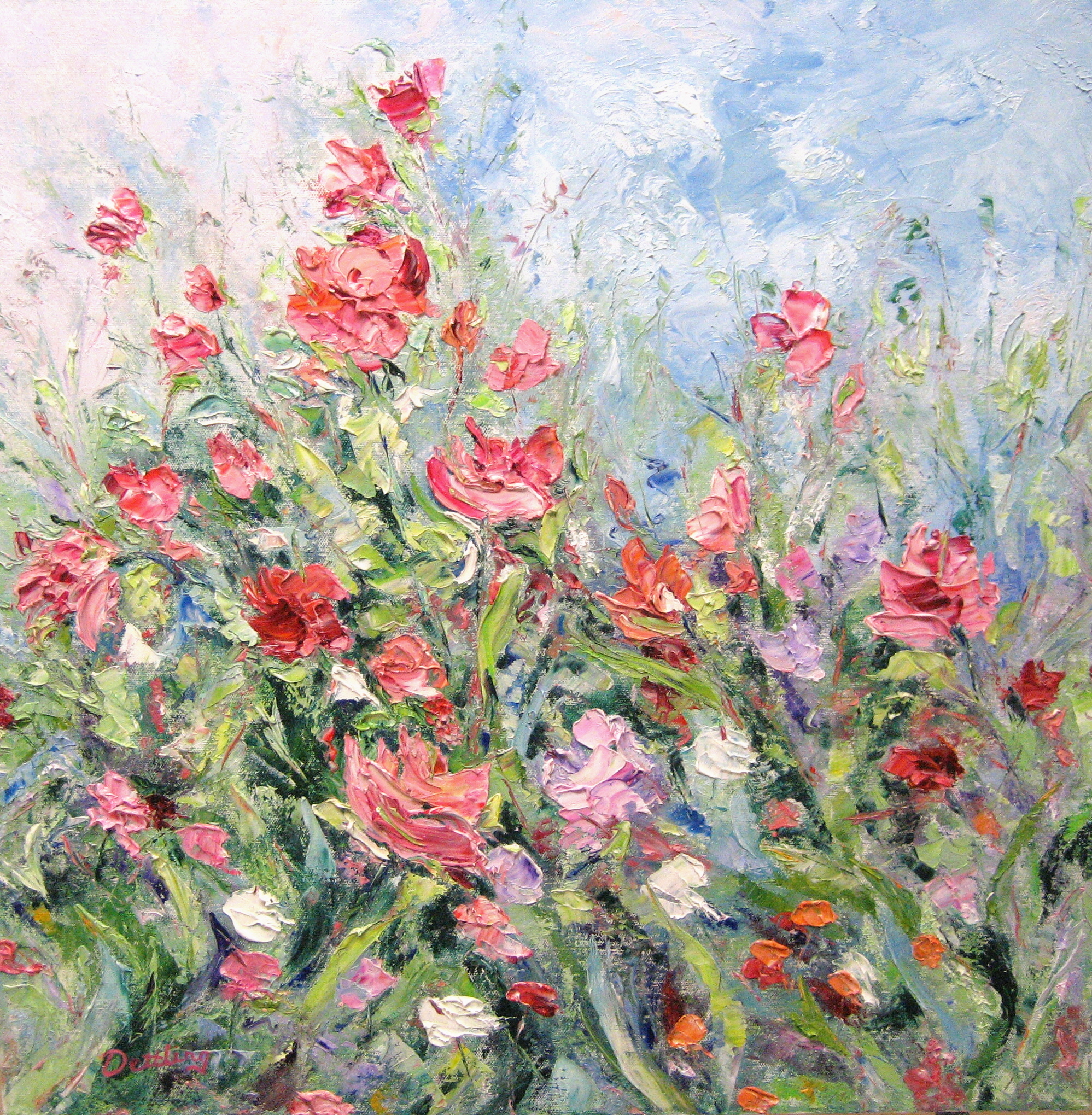 June Bloom 24x24