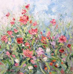 June Bloom 24x24