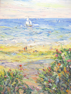 A Day at the Beach 20x16
