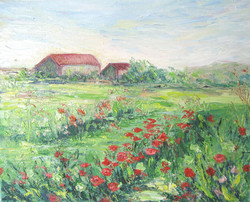 Barns and Blooms 8x10