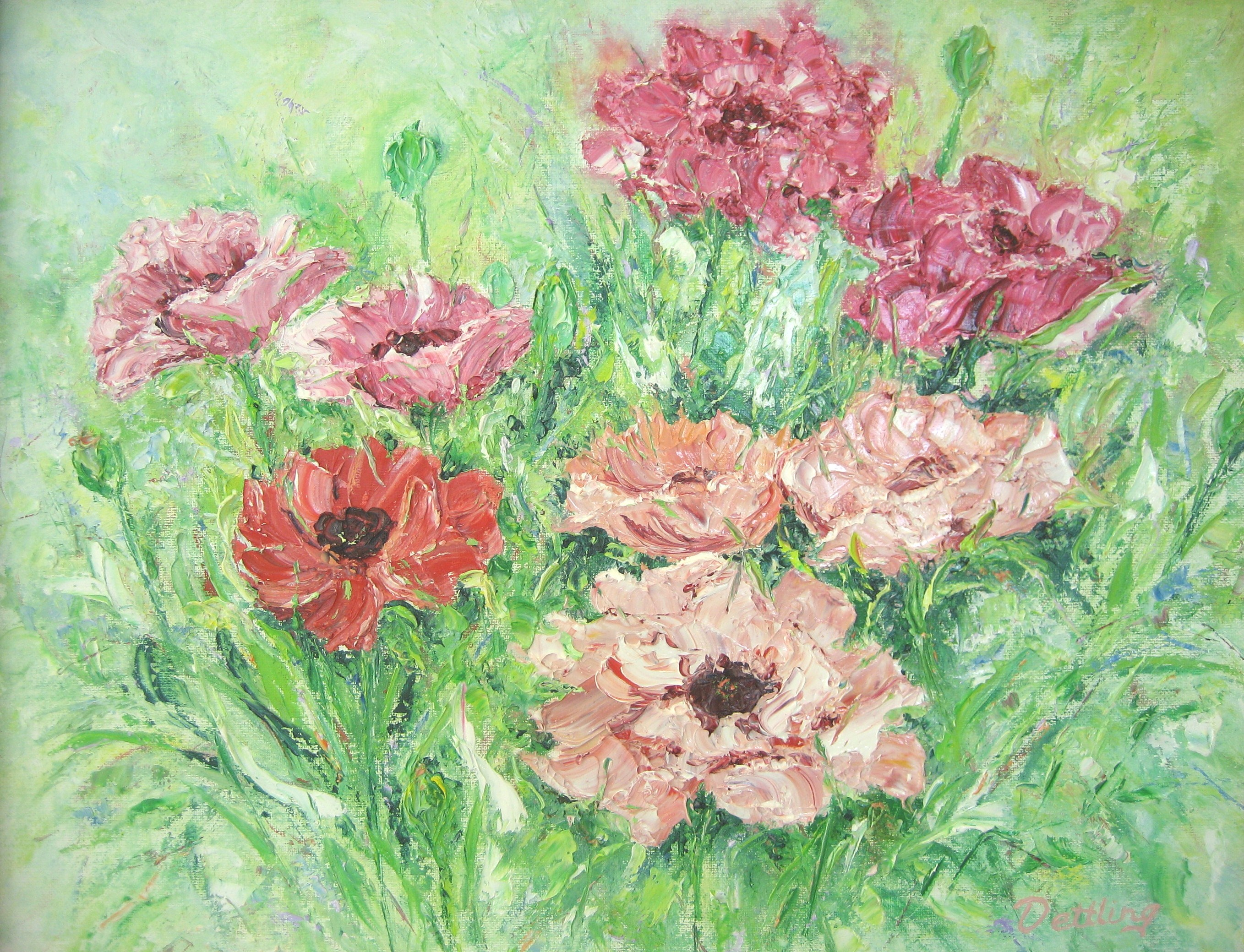 Poppy Patch 16x20