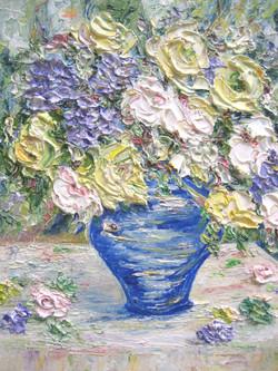 Blue Vase 10x8