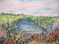 Brookside Blossoms 18x24