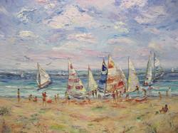 Sunday Sailing 22x28